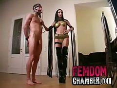 Dominatrix trains her male slave - <font color=#43d0cc>6:14 мин</font>