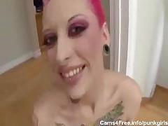 EMO 2 Punk Girls POV Blowjob  and  Fucking! <font color=#43d0cc>8:20 мин</font>