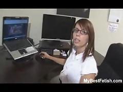 Big tits office babe give footjob <font color=#43d0cc>8:34 мин</font>
