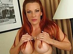 Busty redhead Shannon fucks a red brutal dildo <font color=#43d0cc>24:47 мин</font>