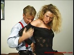 Chubby blonde MILF secretary gives her boss some ass for a raise <font color=#43d0cc>7:29 мин</font>