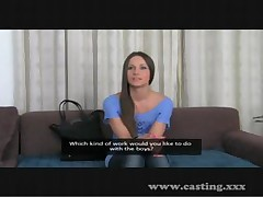 Brunette party girl is on the casting couch and sucks and fucks <font color=#43d0cc>14:39 мин</font>