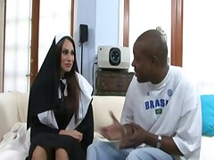 Sexy busty nun Shelia Marie loves to be fucked by big black  - <font color=#43d0cc>18:41 мин</font>